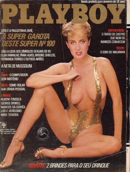 Capa da playboy de novembro  de 1983 com a Divie