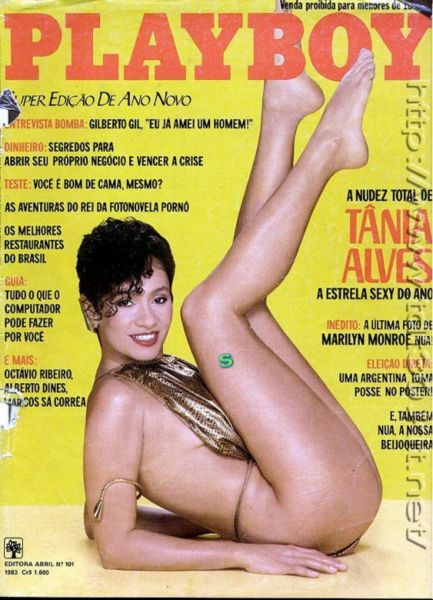 Capa da playboy de dezembro  de 1983 com a Tania Alves