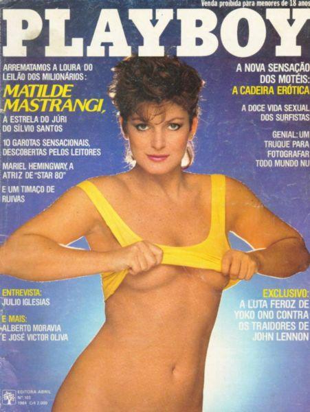 Capa da playboy de fevereiro  de 1984 com a Matilde Mastrangi