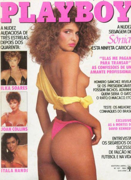 Capa da playboy de junho  de 1984 com a Sonia