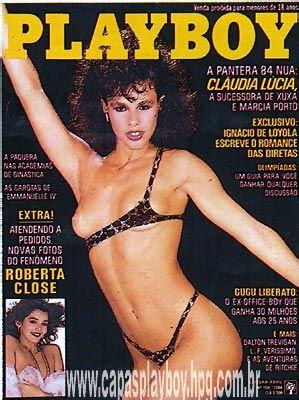 Capa da playboy de julho  de 1984 com a Claudia Lucia