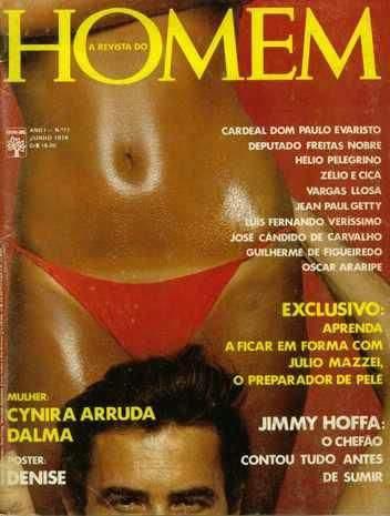Capa da playboy de junho  de 1976 com a Cynira Arruda