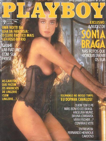 Capa da playboy de setembro  de 1984 com a Sonia Braga