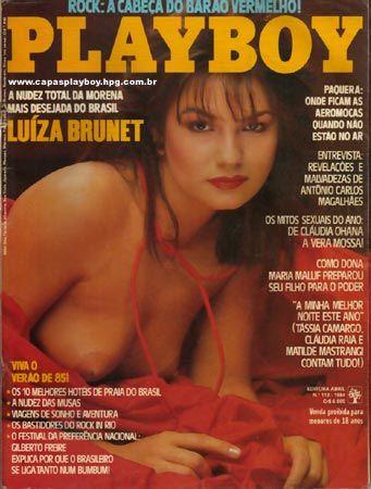 Capa da playboy de dezembro  de 1984 com a Luiza Brunet