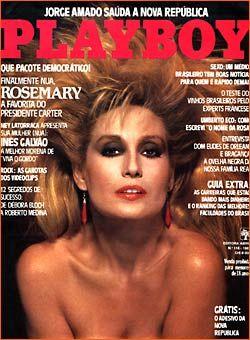 Capa da playboy de março  de 1985 com a Rosemary
