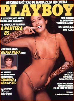 Capa da playboy de abril  de 1985 com a Vera Lucia