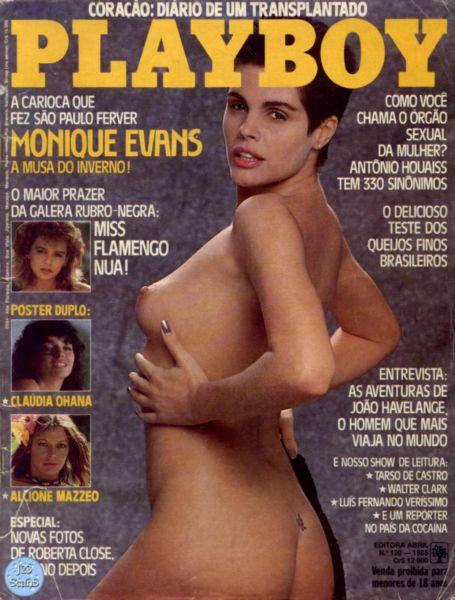 Capa da playboy de julho  de 1985 com a Monique Evans