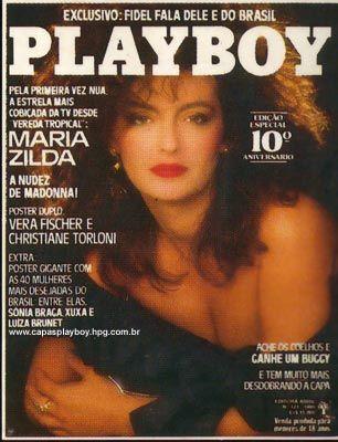 Capa da playboy de agosto  de 1985 com a Maria Zilda