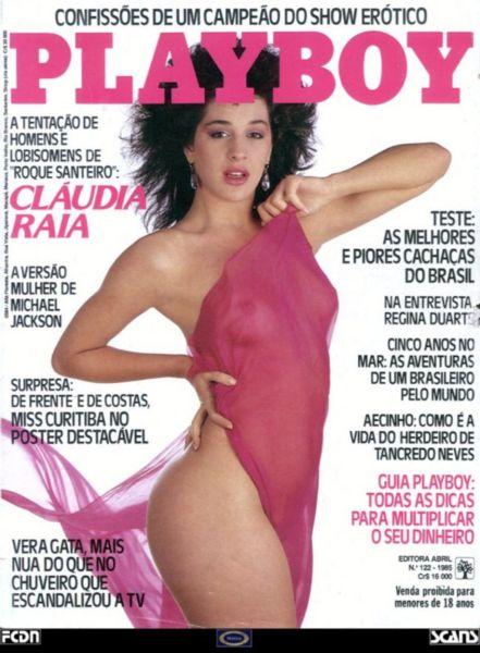 Capa da playboy de setembro  de 1985 com a Claudia Raia
