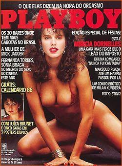 Capa da playboy de novembro  de 1985 com a Marcia Dornelles
