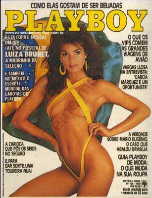 Capa da playboy de maio  de 1986 com a Luiza Brunet