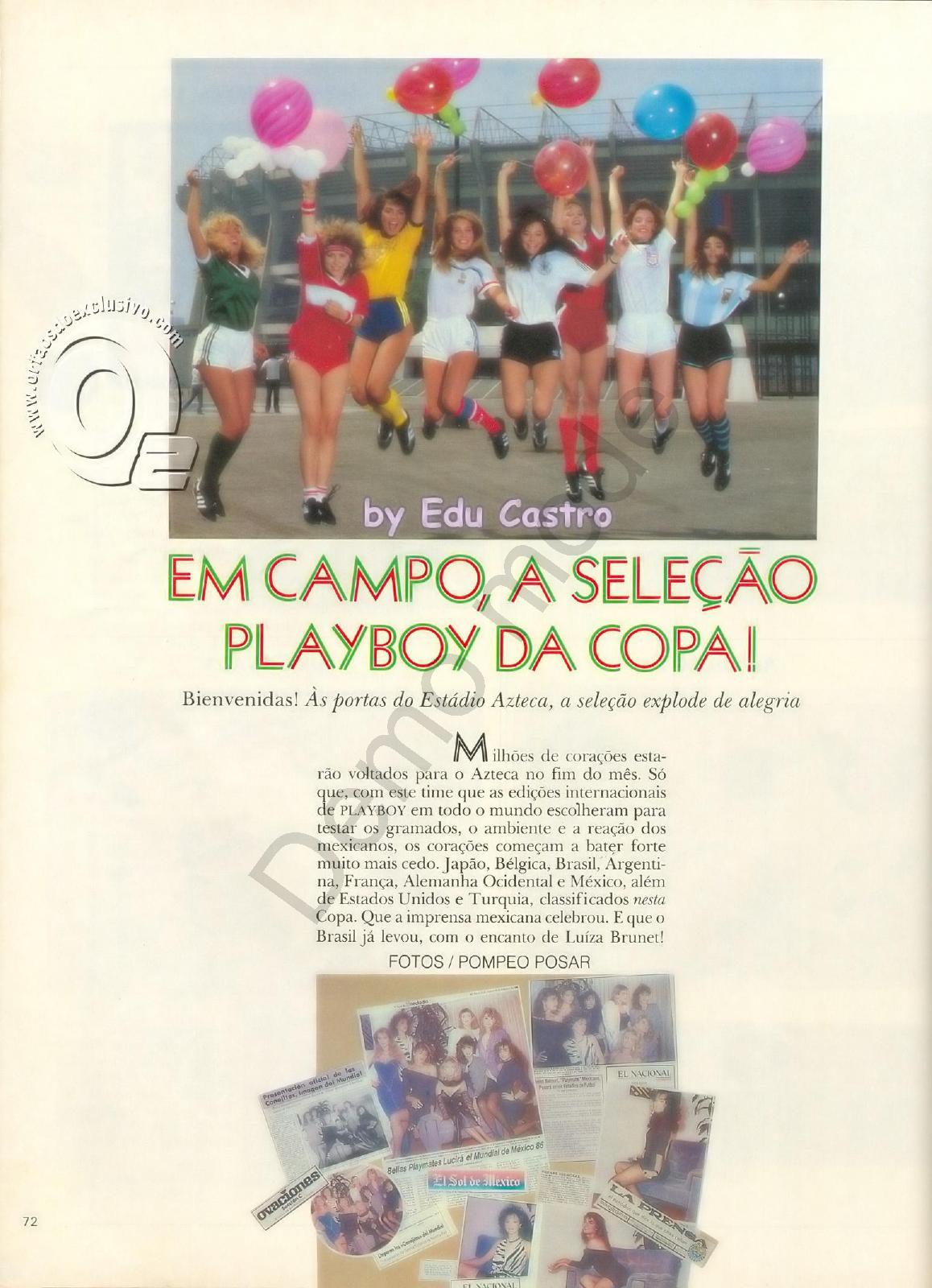 Fotos Luiza Brunet nua, Fotos da Luiza Brunet na playboy, todas as fotos pelada, playboy de maio de 1986