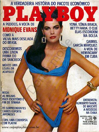Capa da playboy de junho  de 1986 com a Monique Evans