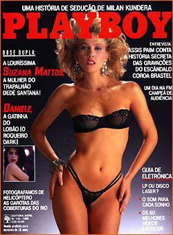 Capa da playboy de setembro  de 1986 com a Suzanna Mattos