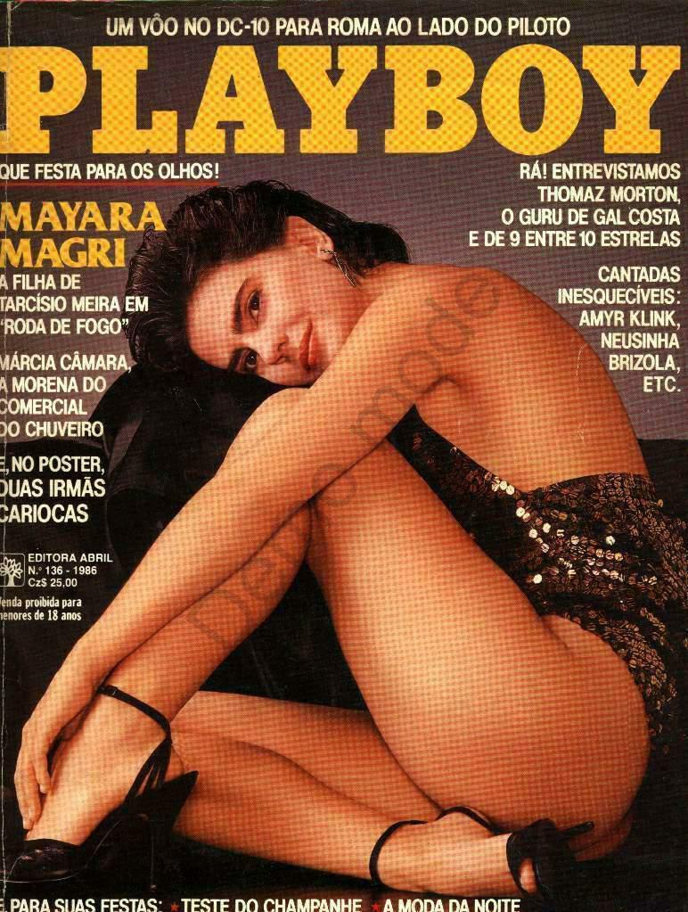 Capa da playboy de novembro  de 1986 com a Mayara Magri