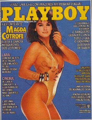Capa da playboy de dezembro  de 1986 com a Magda Cotrofe