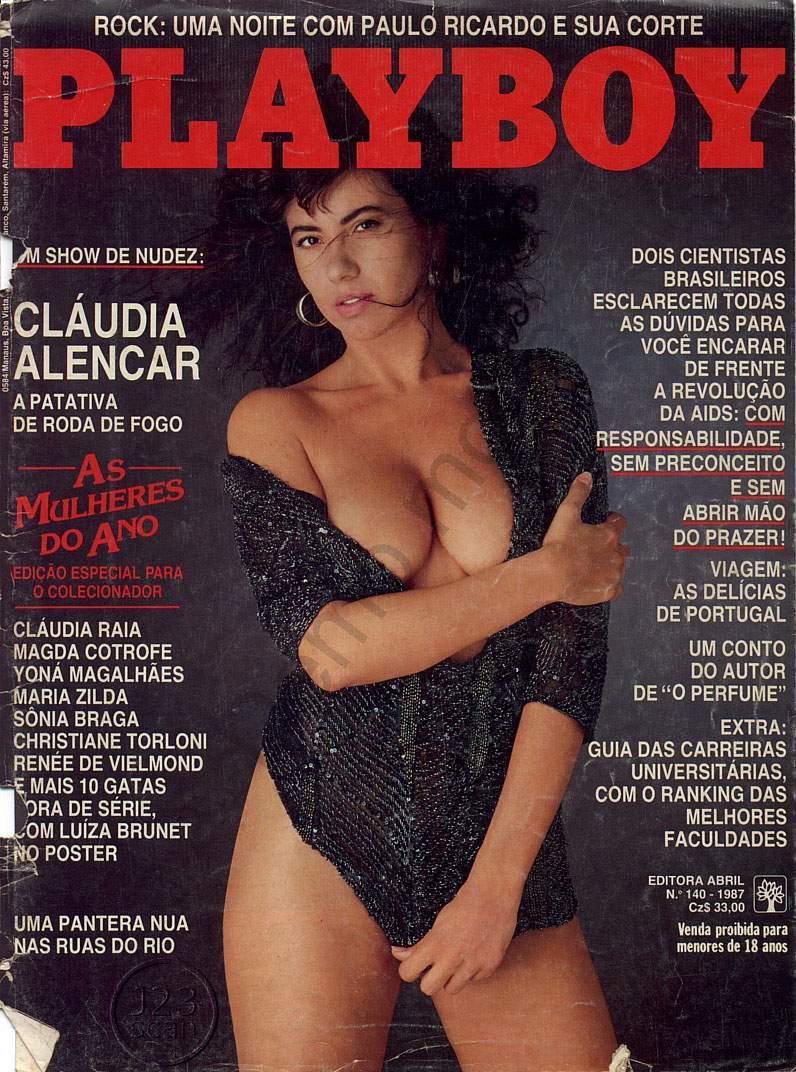 Capa da playboy de março  de 1987 com a Claudia Alencar