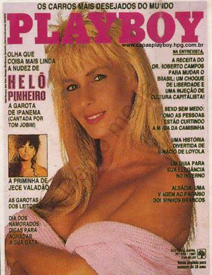 Capa da playboy de maio  de 1987 com a Helo Pinheiro