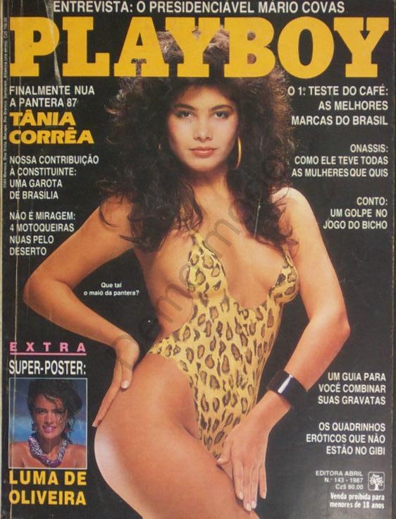 Capa da playboy de junho  de 1987 com a Tania Correa