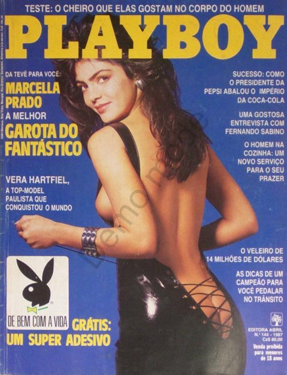 Capa da playboy de julho  de 1987 com a Marcella Prado