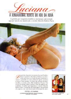 Fotos Luciana Vendramini nua, Fotos da Luciana Vendramini na playboy, todas as fotos pelada, playboy de dezembro de 1987