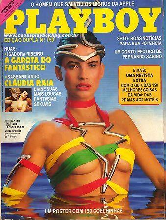 Capa da playboy de fevereiro  de 1988 com a Isadora Ribeiro