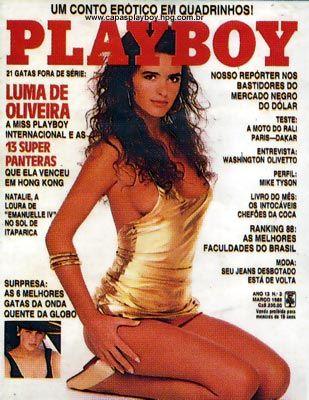 Capa da playboy de março  de 1988 com a Luma de Oliveira