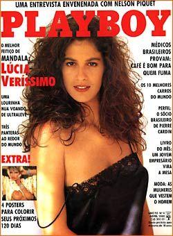 Capa da playboy de abril  de 1988 com a Lucia Verissimo