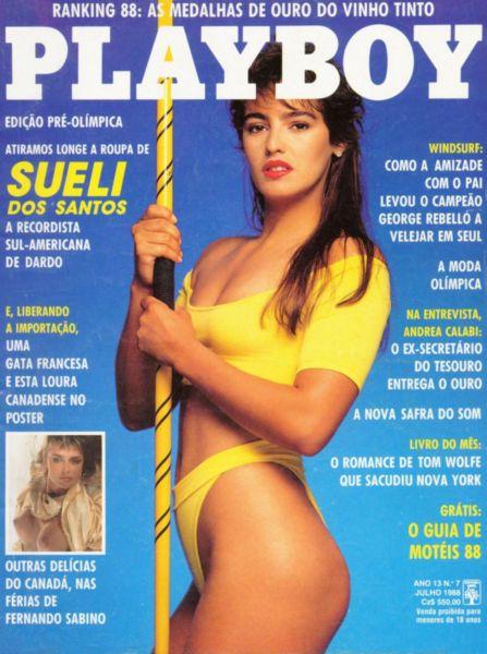 Capa da playboy de julho  de 1988 com a Sueli dos Santos