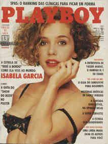 Capa da playboy de agosto  de 1988 com a Isabela Garcia