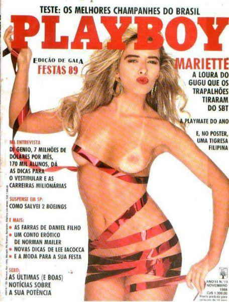 Capa da playboy de novembro  de 1988 com a Mariette