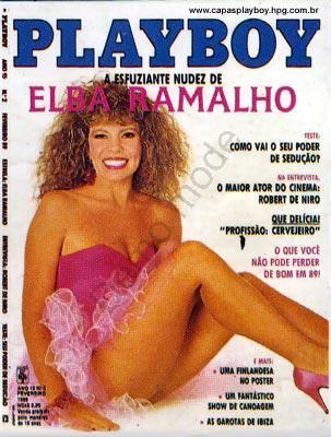 Capa da playboy de fevereiro  de 1989 com a Elba Ramalho