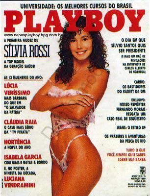 Capa da playboy de março  de 1989 com a Silvia Rossi