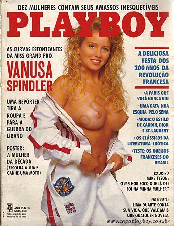 Capa da playboy de junho  de 1989 com a Vanusa Spindler