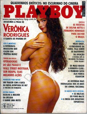 Capa da playboy de julho  de 1989 com a Veronica Rodrigues
