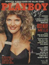 Capa da playboy de novembro  de 1989 com a Rosenery Melo