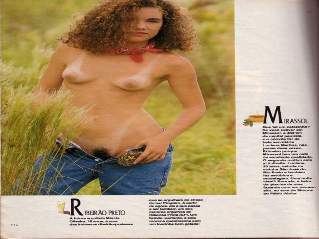 Capa da playboy de abril  de 1990 com a Christiane Bifurco