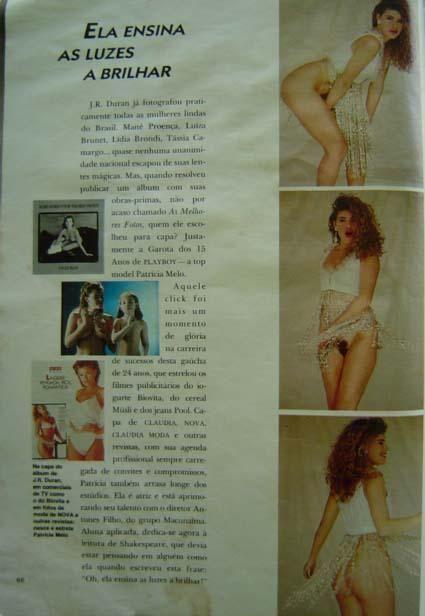 Capa da playboy de agosto  de 1990 com a Patricia Melo