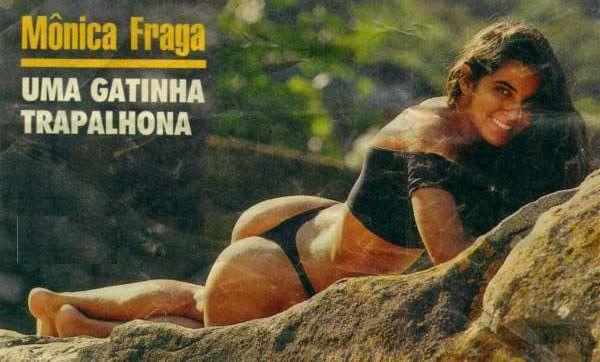 Capa da playboy de setembro  de 1990 com a Monica Fraga