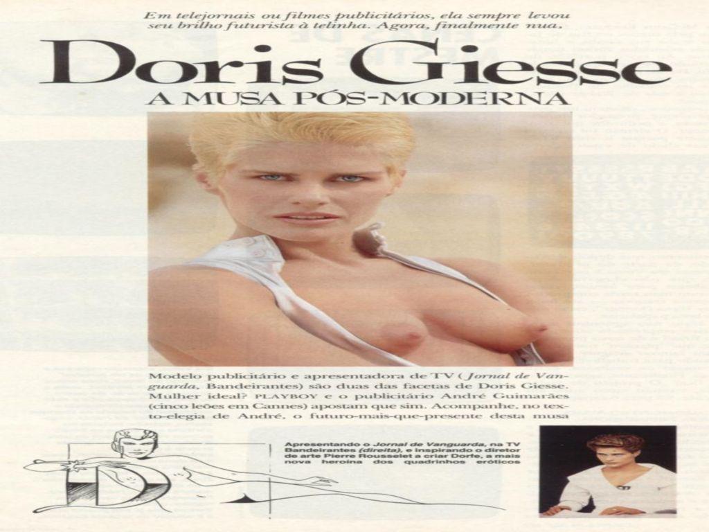 Capa da playboy de novembro  de 1990 com a Doris Giesse