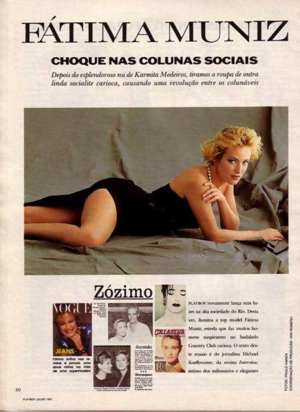 Capa da playboy de julho  de 1991 com a Fatima Muniz Freire