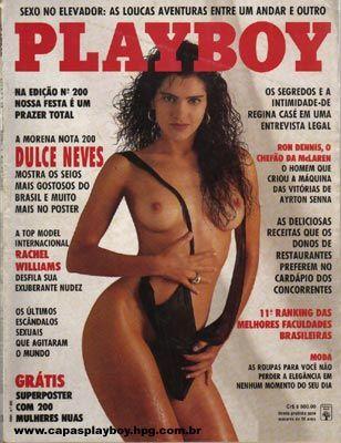Capa da playboy de março  de 1992 com a Dulce Neves