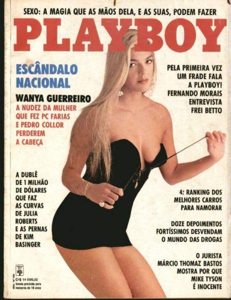 Capa da playboy de junho  de 1992 com a Wanya Guerreiro