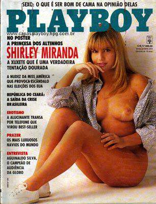 Capa da playboy de julho  de 1992 com a Shirley Miranda