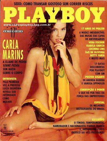 Capa da playboy de agosto  de 1992 com a Carla Marins