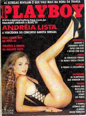 Capa da playboy de setembro  de 1992 com a Andrea Lista