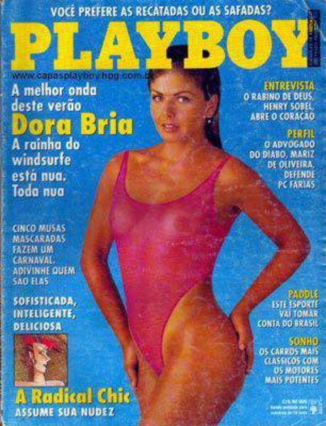 Capa da playboy de fevereiro  de 1993 com a Dora Bria
