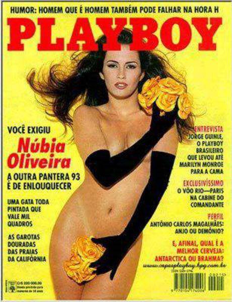 Capa da playboy de junho  de 1993 com a Nubia de Oliveira
