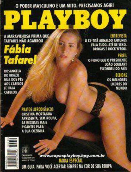 Capa da playboy de outubro  de 1993 com a Fabia Taffarel