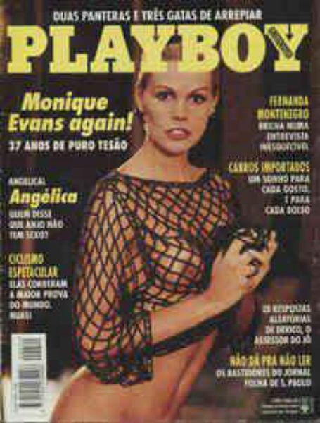 Capa da playboy de novembro  de 1993 com a Monique Evans
